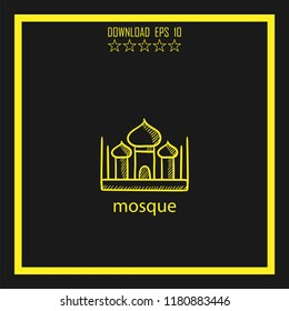 mosque sketch vector icon