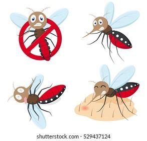 Mosquito cartoon collection set