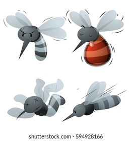 mosquito cartoons set 2