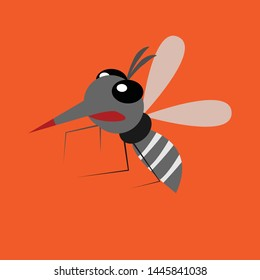 mosquito fly on background vector
