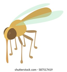 Mosquito icon. Cartoon illustration of mosquito vector icon for web