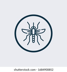 Mosquito icon isolated on white background. Mosquito icon simple sign. Mosquito icon trendy and modern symbol for graphic and web design. Mosquito icon flat vector illustration for logo, web, app