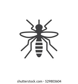 Mosquito icon vector, filled flat sign, solid pictogram isolated on white. Symbol, logo illustration
