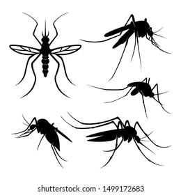 Mosquito Logo Design Vector Illustration. Mosquito Design Template