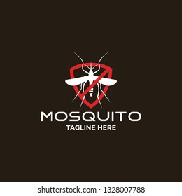 mosquito logo template, free mosquito sign with badge, mosquito illustration.