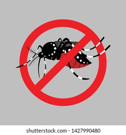 mosquito repellent illustration vector.Mosquitoes carry many disease such as dengue fever, zika disease,yellow fever and chikungunya.