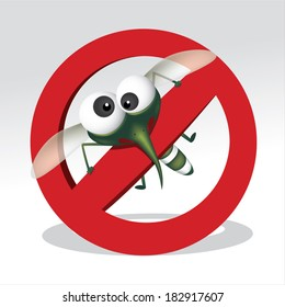 Mosquito repellent vector , stop mosquito sign , no mosquito. Vector illustration