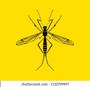 Mosquito silhouette vector illustration