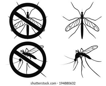 Mosquitoes warning symbol