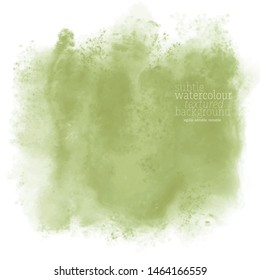 moss green water color splash on white background. eps 8