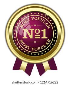 Most Popular, No 1 Badge