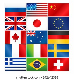 Most popular vector flags/Most popular vector flags