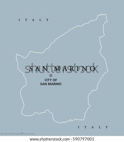 Most Serene Republic San Marino Political Stock Vector Royalty Free