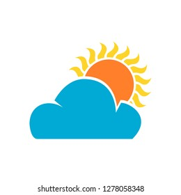 Most sunny weather , Sun , Clouds. Design by Inkscape.