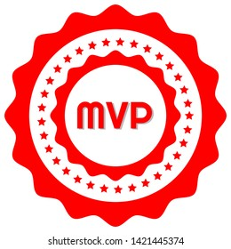 Most Valuable Player MVP Award - rubber stamp.grunge stamp with shadow