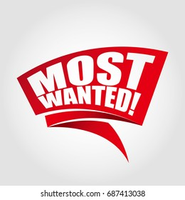 Most wanted labels banners