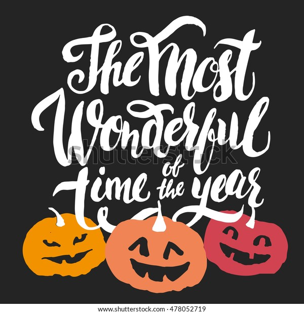 The Most Wonderful time of the Year Halloween holiday greeting card