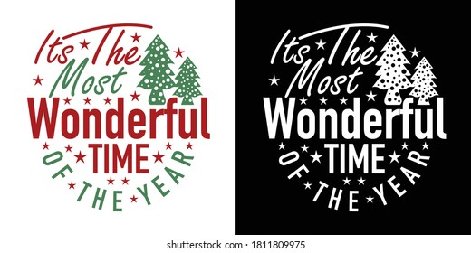 Its The Most Wonderful Time Of The Year Printable Vector Illustration