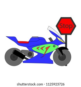 motercycle vector showing vector motercycle