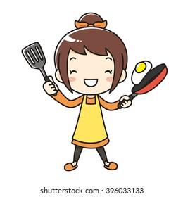 mother apron friedegg