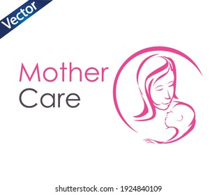 Mother care logo icon for your company, Vector logo design template