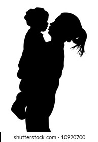 Mother and child (vector)