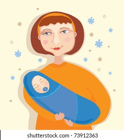 Mother and child. Vector illustration