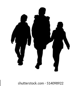 mother with children -silhouette