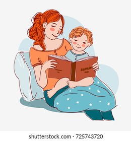 Read Baby Stories Images Stock Photos Vectors Shutterstock