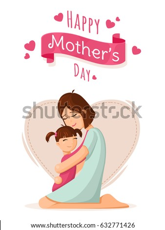 mother and daughter mothers day card background