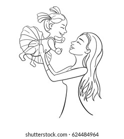 Mother and Daughter Drawing Images, Stock Photos & Vectors