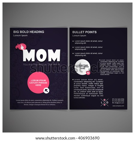 mother day brochure template stock vector royalty free 406903690