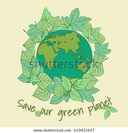 Mother Earth Day 22 April Earth Stock Vector Royalty Free