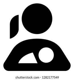 Mother Holding Baby Vector Icon