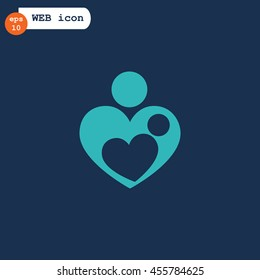 Mother love icon Vector.