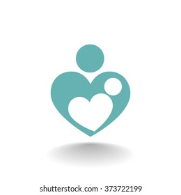 Mother love symbol or icon