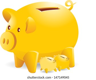 mother piggy bank