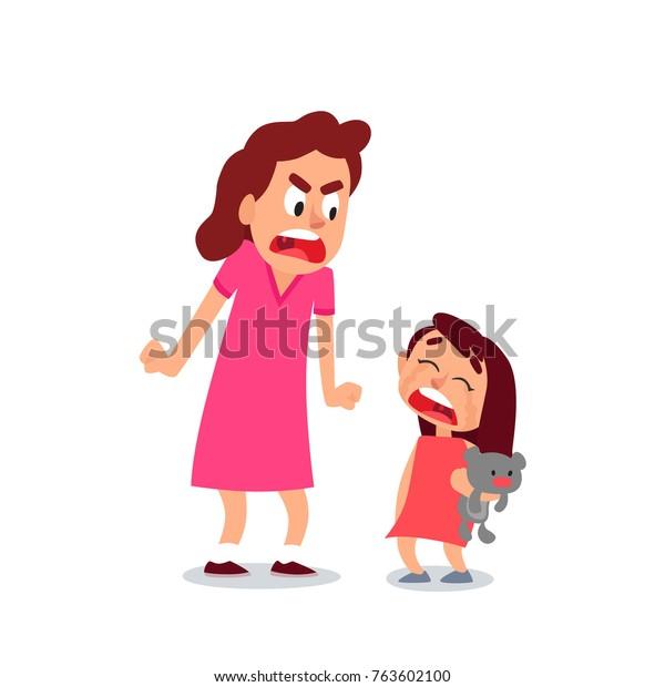 Image Vectorielle De Stock De Colle Sa Fille Une Maman En
