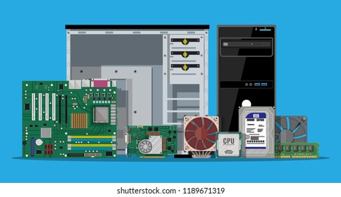 Computer Parts Store Stock Illustrations, Images & Vectors