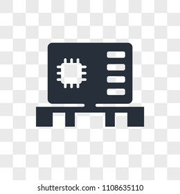 Motherboard vector icon isolated on transparent background, Motherboard logo concept