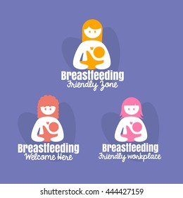 mothers breastfeeding her baby symbol