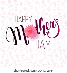 Mother's Day background. Vector template for cards, wallpaper, flyers, invitation, posters, brochure, discount voucher, banner.