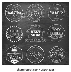 Mother's Day Badges and Labels in Vintage Style