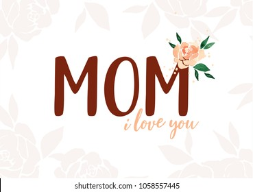 Mothers day card, Beautiful mom, Happy mothers day, My mom, I love my mom