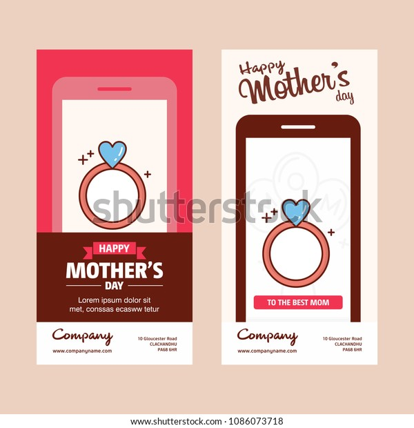 mothers day card ring logo pink stock vector royalty free 1086073718 shutterstock