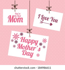 Mother's day design over pink background, vector illustration