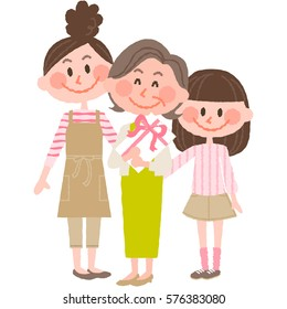 Mother's Day - Grandma, Mother and Granddaughter
