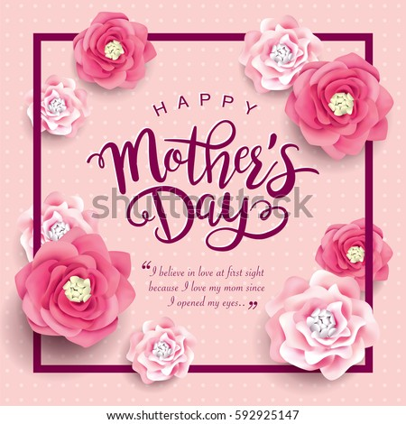 Mothers day greeting card beautiful blossom stock vector royalty mothers day greeting card with beautiful blossom flowers m4hsunfo