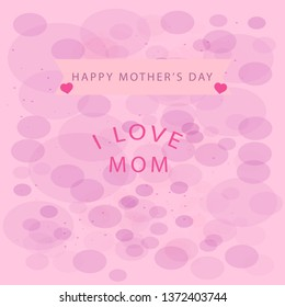 Mother's day greeting card with blossom flowers.elegant design.