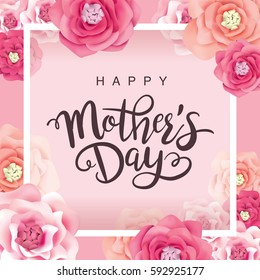 Mothers day images stock photos vectors shutterstock mothers day greeting card with flowers background m4hsunfo
